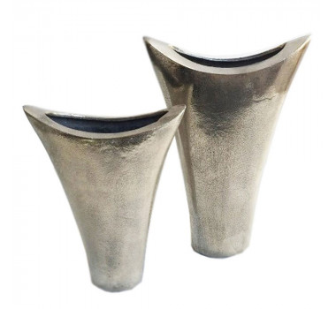 Conjunto de Vasos Em Alumínio Na Cor Prata Ceneu