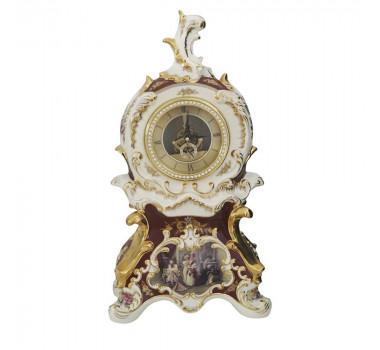 Relógio em Porcelana Limoges Italiano Detalhes em Dourado