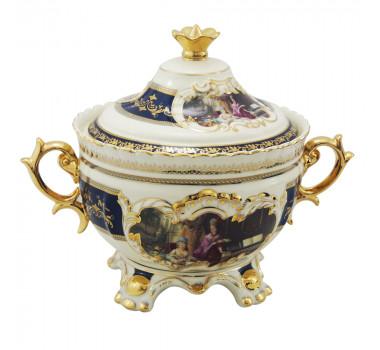 Sopeira em Porcelana Estilo Limoges Filetes em Ouro Clássico