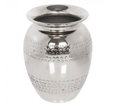 Vaso De Alumínio Pequeno Prateado