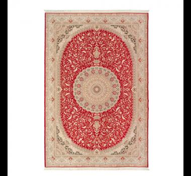 Tapete Iraniano Beluchi Vermelho com Detalhe em Bege - 300x200cm