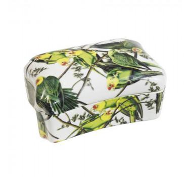 Caixa em Cerâmica Abacaxi 9 cm x 18 cm x 14 cm