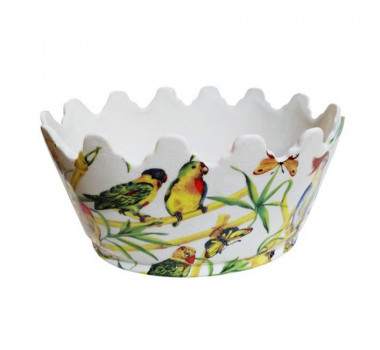 Cachepot em Cerâmica Pássaros 15 cm x 31 cm x 23 cm