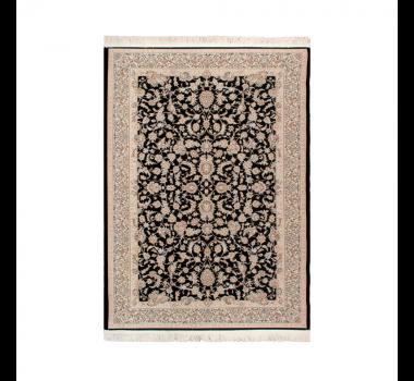 tapete-iraniano-beluchi-preto-com-floral-bege-120x75cm