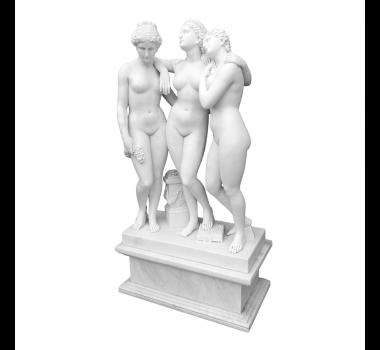 escultura-decorativa-3-damas-em-marmore-branco-155x81x45cm