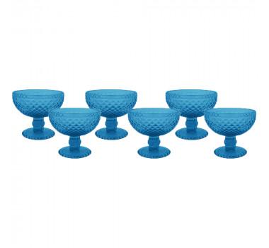 tacas-para-sobremesa-azul-com-detalhes-em-alto-relevo- jogo-com-6 pecas