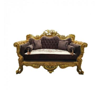 sofa-luis-xv-folheada-a-ouro-em-captone-marrom-com-detalhes-2-lugares
