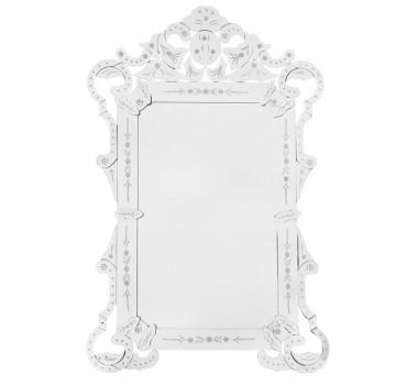 Espelho Veneziano Bisotado De Vidro Cristalino Sant'helena