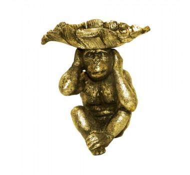 Castiçal Macaco Dourado