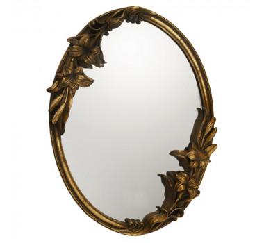 Espelho Oval Moldura Clássica Dourada Estilo Luis XV
