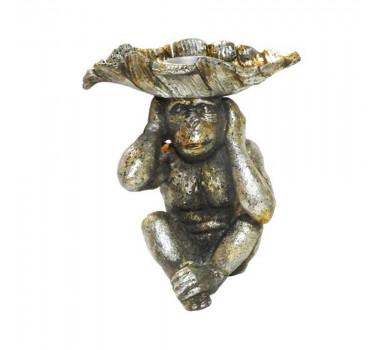 Castiçal Macaco Prata