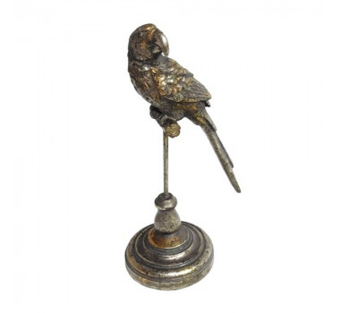 Escultura Decorativa Pássaro Prata