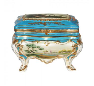 Caixa em Porcelana Azul Claro