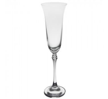 06 Taças Em Cristal Transparente Flute