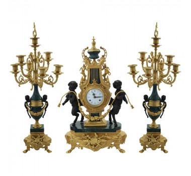 Relógio Imperial  Em Bronze Com C