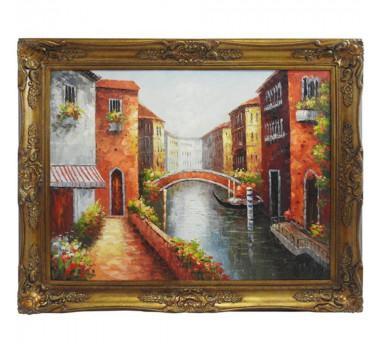 Quadro com Pintura a Óleo Veneza