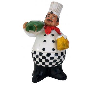 Escultura Decorativa Chef de Cozinha and