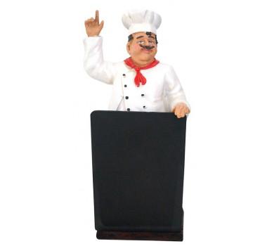 Escultura Decorativa Chef De Cozinha Pie