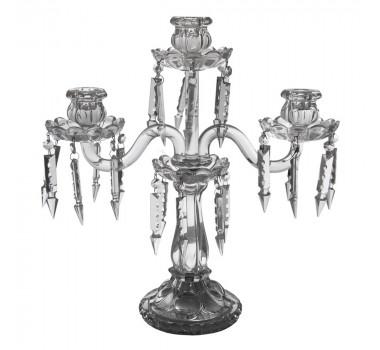 Candelabro Em Cristal 3 Velas