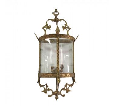 Lanterna de Parede Dourada Clássica em Bronze