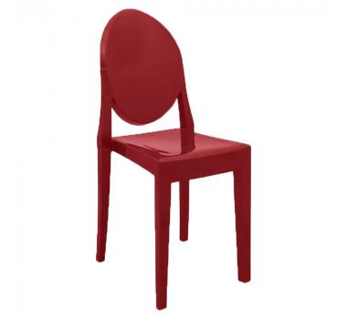 Cadeira Medalhão em Resina Vermelha