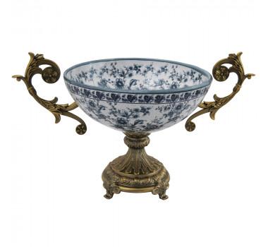centro-de-mesa-em-porcelana-classico-base-e-alcas-em-bronze-22x22cm