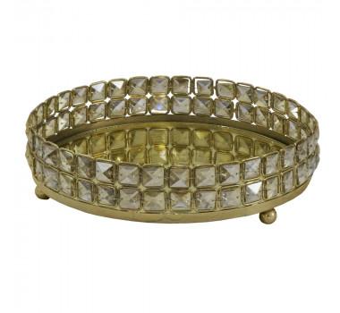 bandeja-redonda-dourada-produzida-em-metal-com-detalhes-na-borda-7x31cm