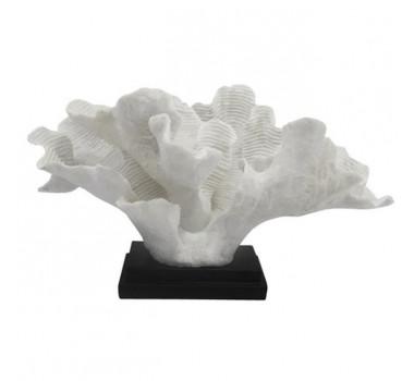 Escultura Coral Resina Branco