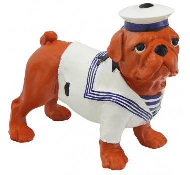 Escultura em Resina Decorativa Cão Bulldog