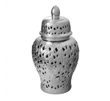 Potiche em Cerâmica Estilo Borrão 38 cm x 20 cm