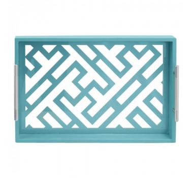 bandeja-retangular-produzida-em-madeira-na-cor-azul-turquesa-7x40x27cm