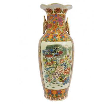 Vaso Em Cerâmica Ocre Paisagem