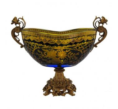 centro-de-mesa-em-cristal-azul-e-dourado-com-detalhes-em-bronze-24x39x17cm