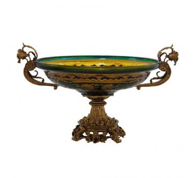 centro-de-mesa-em-cristal-azul-e-dourado-com-detalhes-em-bronze-23x38x30cm