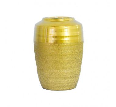 vaso-rustico-decorativo-em-ceramica-dourada-28x18cm