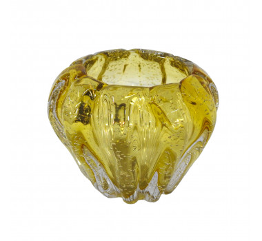 Vaso Decorativo em Vidro Âmbar - 13cm