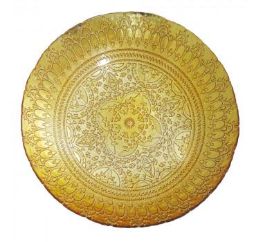 Centro de Mesa Dourado em Vidro Estilo Art Nouveau 04