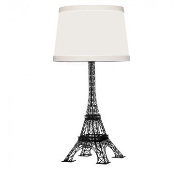 Abajur de Mesa Moderno Torre Eiffel Preto 60 cm X 30 cm