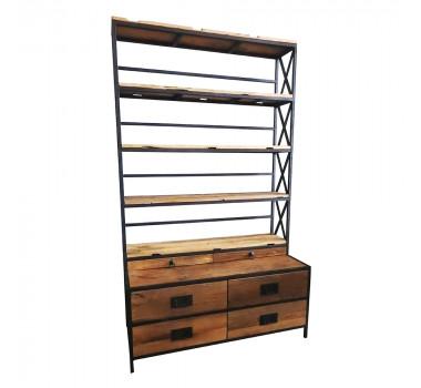 estante-estilo-rustico-com-estrutura-em-metal-202x120x55cm
