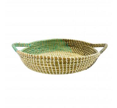bandeja-decorativa-produzida-em-rattan-com-detalhes-em-verde-e-preto-10x48x38cm