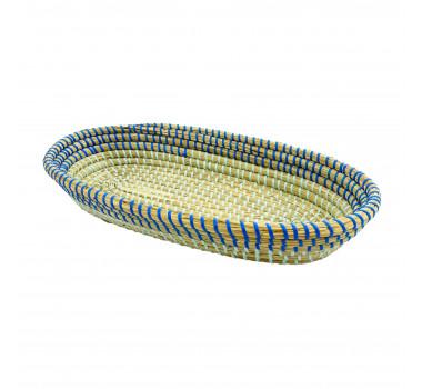 bandeja-decorativa-com-alcas-produzida-em-rattan-com-detalhes-em-azul-7x42x24cm