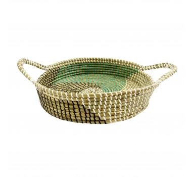 bandeja-decorativa-com-alcas-produzida-em-rattan-com-detalhes-em-verde-12x51x35cm