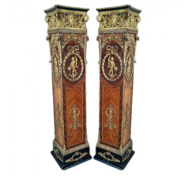 par-de-colunas-imperial-em-madeira-apliques-em-bronze