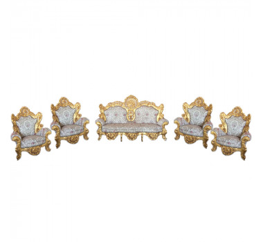 Jogo-de-Sofá-Clássico-Luis-XV-Imperial-Creme-Flores-4-Poltronas-162x101x269cm