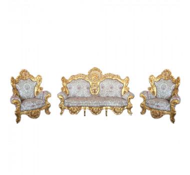Jogo-de-Sofá-Clássico-Imperial-Azul-Folheado-a-Ouro-162x101x269cm