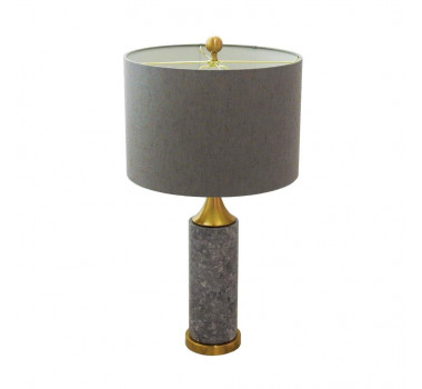 abajur-com-base-em-metal e-marmore-cinza-imperial-com-cupula-75x40cm