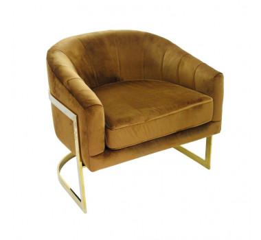 poltrona-decorativa-com-estofado-em-veludo-marrom-75x71x68cm