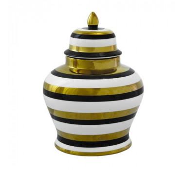 potiche-decorativo-em-porcelana-dourado-branco-e-preto-30x22cm