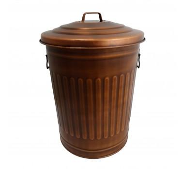 Balde de Lixo em Metal com Acabamento em Cobre 52 cm x 39 cm