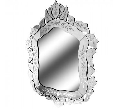 Espelho Veneziano Grande Cristalino Com Peças Bisotadas